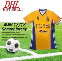 Wholesale DHL Tigres UANL Stars soccer jersey thai quality Mexico club Tigres UANL home yellow away black Stars shirt football jersey