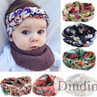Wholesale Hot sale Baby Printing Knot Hair Band Baby Girls Headband Ribbon Elasticity Ferret Hair Accessories Headwear