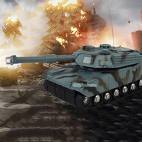 Wholesale RC Tank Battle Toy Tank Model Classic R C Radio Remote Control RC Fighting Tank Rotation Music LED toys For Children