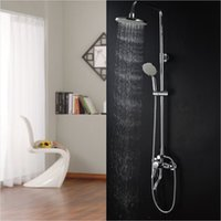 Wholesale HS Shower System Wall Mounted Bathroom Shower Sets Made of Brass Five Function Handheld Shower Chrome Plated Color Rain Shower System Brand