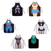 Wholesale superhero apron superman batman Kitchen aprons spiderman flash hulk apron Funny Cooking Cartoon Aprons party gifts Home BBQ Apron Party
