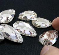 Wholesale High Quality Shiny Crystal FlatBack Non Hot Fix Rhinestones Water Drop Shape Nail Art Phone Case DIY Loose Copy Diamonds Accessories