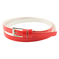 Wholesale 2016 Fashion Candy Color Beautiful Buckle Thin cintos femininos Women s Multicolor Leather Belt All Match Belts for Woman