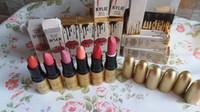 al por mayor tubos uniformes-10 rama venta al por mayor Kylie Jenner Lipstick Matte Negro tubo Maquillaje Paletas Maquillaje Uniforme color completo Humedad húmeda