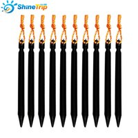 2-person aluminium construction - 10pcs Aluminium Alloy Tent Peg Nail Stake with Rope Camping Equipment Outdoor Traveling Tent Building cm