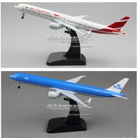Wholesale 19cm Boeing B777 ER Metal alloy aireplane model Eva Air each country plane aircraft model American thailand sigaport air