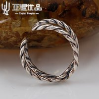 anniversary counter - YAYINYOUPIN S925 Pure Silver Ring Spiral Ring Body Zhao Xing Retro Fashion Smooth Ring Simple Concept Of Silver Counter Factory