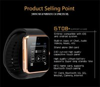 Wholesale 2016 waterproof Smartwatch For Android for Ios With Camera SIM Intelligent Mobile Phone Watch Can Record The Sleep State Smart Iwatch GT08