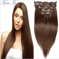 Wholesale 2016 Hot Selling Unprocessed Vrgin Peruvian Brazilian Indian Full Bottom Human Clip In Hair Extensions