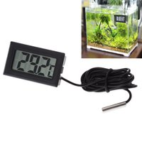 aquarium baby - New Digital Waterproof Detector Baby Care Device Embedded Thermometer LCD Instant Read Refrigerator Aquarium Monitoring Display