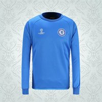 Wholesale 16 new Champions League Chelsea blue full sleeve football jackets adult s soccer coats thailand quality men s winter sports hoodies
