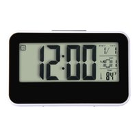 Wholesale PC Happy Gifts High Quality Fashion Creative Smart Clock LED Snooze Alarm Calendar Temperature