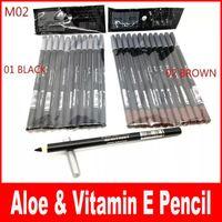 Wholesale HOT Eyeliner eyebrow Liner Pencil Black Brown EYE LIP Liner Pencil Aloe Vitamin E1 g DHL