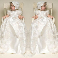 Wholesale 2016 Hot Sale Beigecolor and To the Length of the New Beige Baby Dress Baby Girl Christening Gowns Baby Girl Baptism Dresses