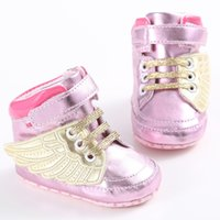 Unisex best kids sandals - Best Quality Baby Infant PU Leather First Walker Shoes New Fashion Angel Wing Mocassins Baby Shoes Soft Soled Shoes Kids Sandals