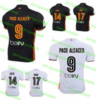 Wholesale Top Thai quality valencia white Home Jersey Soccer shirt valencia cf FOOTBALL SHIRTS valencia cF away black Football shirt