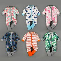 bamboo baby pajamas - 2016 Spring bamboo leaf Pyjamas rompers Boys Girls clothes Cotton Overalls Newborn Baby Clothes Pajamas baby clothes