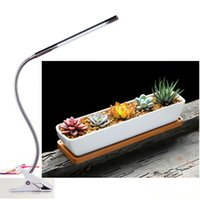 adjustable tube clamp - LED Grow Light W Adjustable Level Dimmable LED Clip Desk Lamp Clamp Flexible Neck Degree For Hydroponic Garden Greenhouse