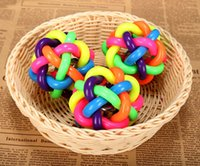 Wholesale Estrella Colorful Pet Dog Ball Toys Dog Puppy Multi Colors Ball Toys Dental Teething Healthy Teeth Chew Training Ball Toys