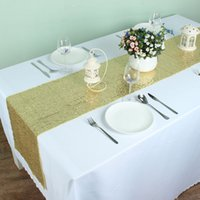 100 polyester gold banquet sequins table runner wedding event party festival table decoration size 30