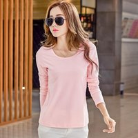 basic color codes - Spring Clothes New Pattern Round Neck Basics Fund Solid Color T Pity Woman Long Sleeve Will Code Suit dress Rendering Unlined Upp