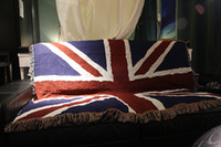 Wholesale Afghans Tapestry throw wall hangings Patriotic the union jack flag great Britain rugs blanket art decor woven cotton table cloth