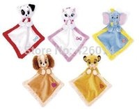 baby blankie - Baby Snuggle Blanket Security Comfort Blankie Towel Simba Dumbo Marie Cat Lady and the Tramp Kids Stuffed Toys Children Gifts