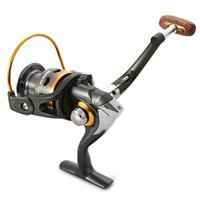 Wholesale DK1000 Spinning Fishing Reel BBs Aluminium Foldable Fishing Reel Gray Exchangable Handle Side Fishing Reel IS0349