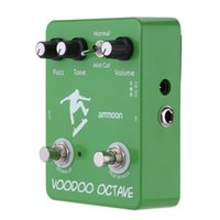 Wholesale ammoon AP Voodoo Octave Fuzz Effect Guitar Effect Pedal True Bypass High Quality Guitar Parts Accessories