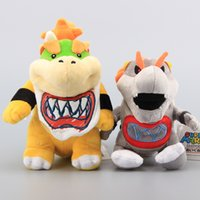 baby bowser plush - Super Mario Bros Standing Bowser JR Koopa Baby with Sword Gray King Bones Bowser Jr Koopa Plush Toys Stuffed Dolls CM