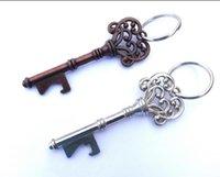 Wholesale Skeleton Style Key Bottle Opener Vintage Key Shape Bottle Opener Steel Bronze Keychain Bottle Opener Antique Retro Opener