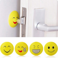 Wholesale Emoji Wall Thickening Mute Door Crash Pad Golf Modelling Rubber Fender The Handle Door Lock After Protective Pad Wall Stickers