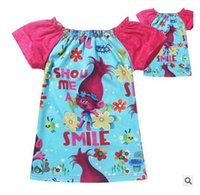 Wholesale Trolls Baby T Shirts Children Girls Shorts Girls Tops Tees Shirts Cotton Christmas Gifts