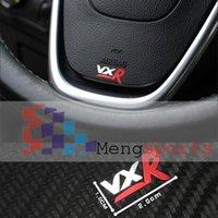 Wholesale gear shift knob manual Small VXR Mini Badge Sticker Steering Wheel Car Styling Gear Knob Pure Metal x10mm