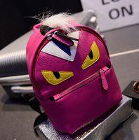 Wholesale 2017 Fashion Small Shoulder Bag Bugs Little Monster Backpack Demon Eyes Tidal Wave School Bag Women Cartoon Backpack