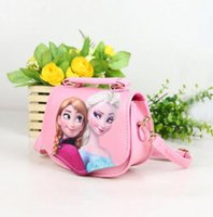 achat en gros de croix congelé-Frozen Girl Cross Body Bags 5 Style Cartoon Sac à main Forme Jolie Enfants Accessoires de cadeau Satchel 2017