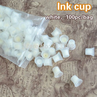 Wholesale bag Professional Permanent Makeup Ink Pigment Cups with Sponge