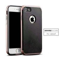 Moda 2 en 1 fibra de carbono duro pesado parachoques marco piel de la cubierta del caso para iPhone 5 iPhone 6 y más caso de lujo