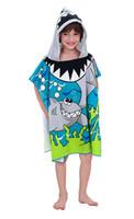 Wholesale Sinland Shark Children s Hooded Bath Towel