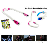 Wholesale Hot new E74 LED Lumens Hands Free Flexible Neck Light Reading Flashlight Lamp Book Light