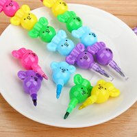 bear paint colors - Colors Cute Lovely Cartoon Bear DIY Non Toxic Crayon Oil Painting Stick Student School Supply