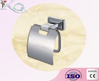 Wholesale toilet paper holder paper roll holders wall mounted chrome finished brass bathroom tissue paper holder bath hotel accessories