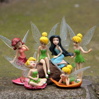 Wholesale Hot Sale Set cm Anime Tinkerbell Fairy Figure Toy Tinker Bell PVC Action Figures Dolls For Baby Gifts