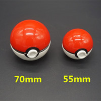 abs ball - Unique Design Pokeball Grinder mm Diametre Large Size Zinc Alloy Plastic ABS Metal Herbal Grinders pc Poke Ball Grinder Layer Parts