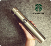 Wholesale 300 ML Creative Starbucks Style Stainless Steel Mug Sucker Cup Coffee Cup Long Bottle Thermal Insulation Water Bottle Vacuum Flask