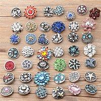 Wholesale Random mixing GOOD women charm bracelet bangle Metal mm snap button jewelry bohemian of crystal button for men