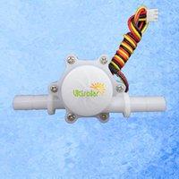 Wholesale V USN HS10PA Hall Effect Flow Sensor Water L min mm OD Plug Turbine Flowmeter mm Length