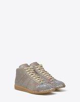 best online fabric store - 2017 Mens Stylish Maison Martin Margiela Paint Splatter Design Shoes at the Best Prices Online Store