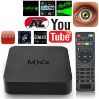 youtube google achat en gros de-Android 4.4 MXQ TV Box Quad Core 8G Amlogic S805 Smart TV Box KD16.1 Full Loaded WIFI suport 3D Films gratuits