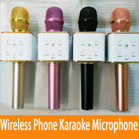 Wholesale q7 wireless bluetooth Phone karaoke microphone for iphone and andriod phone xiaomi samsung phone with mAh Large Capacity Battery